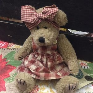 Boyd's Bear with plaid dress